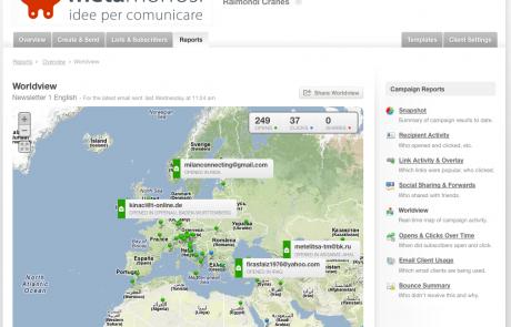 mappatura dei click ricevuti