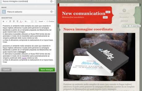 ambiente di lavoro delle campagne newsletter